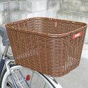 【OGK】大型籐風自転車用後ろかご RB-002 ダークブラウン【6300円以上で送料無料】