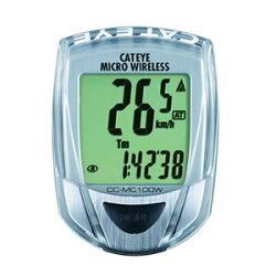 【お取り寄せ商品】自転車用速度計サイクロコンピュ−タCC−MC100Wシルバー【納期約10日〜】