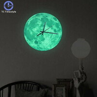 照明器具ロマンチックな発光月型壁時計掛け時計家の装飾寝室用