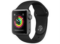 【5%還元対象】[新品]AppleWatchSeries3GPSモデル38mmMTF02J/A[ブラックスポーツバンド]アップルウォッチ4549995043402