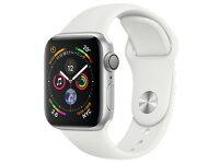 【5%還元対象】[新品]AppleWatchSeries4GPSモデル40mmMU642J/A[ホワイトスポーツバンド]アップルウォッチ4549995045420