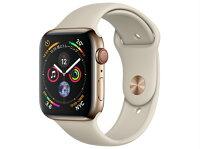【5%還元対象】[新品]AppleWatchSeries4GPS+Cellularモデル44mmMTX42J/A[ゴールドステンレススチールケース/ストーンスポーツバンド]アップルウォッチ4549995100730