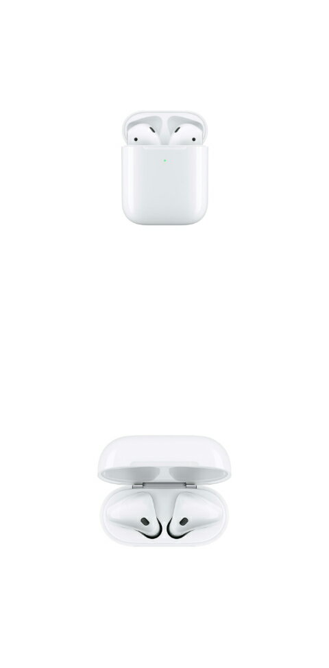 オーディオ, ヘッドホン・イヤホン 5 Apple AirPods 2 with Wireless Charging Case MRXJ2JA 4549995054170
