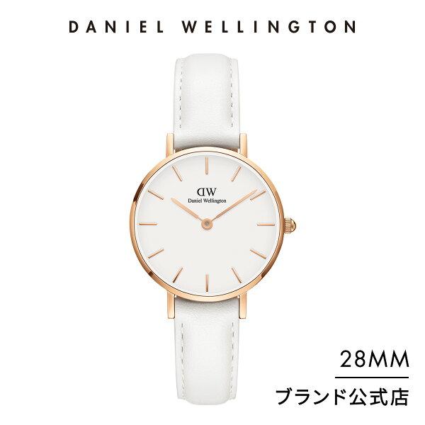 公式2年保証/ ダニエルウェリントン公式レディース腕時計PetiteBondi28mm革ベルトクラシックぺティートボンダイDW