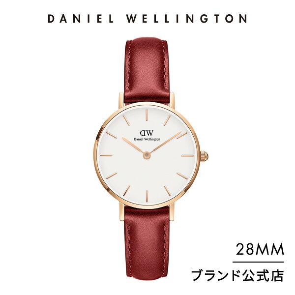 公式2年保証/ ダニエルウェリントン公式レディース腕時計PetiteSuffolk28mm革ベルトクラシックぺティートサフォー