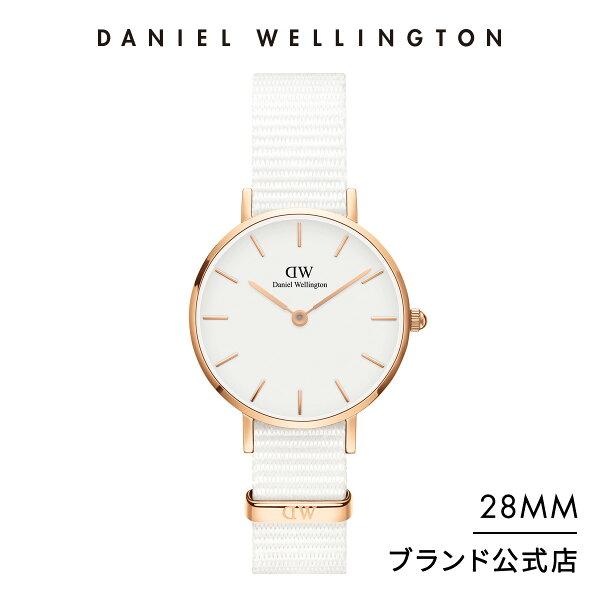 公式  /2年保証/ ダニエルウェリントンレディース腕時計PetiteDover28mmNatoぺティートドーバーローズゴール