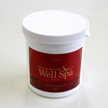 送料無料!★海塩(富山湾海洋深層水塩100%)・ミネラルパウダー配合!★全身浴の場合は200リットル当たり付属のカップで3〜5カップを!入浴後も芯からポカポカ〜!ミネラルバスソルト!スパソルト Well spa ウェルスパ450g