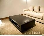 【送料無料】天然木オーク材大型リビングテーブルLoob−D