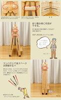 【送料無料】【き】日本製ヒノキ床板木製折りたたみベッドシングルハイタイプ【smtb-k】