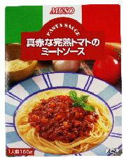 【ムソー】真赤な完熟トマトのミートソース 160g1023max10