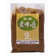 麦麹のさっぱりとした旨味が魅力!国産原料100% 杉樽仕込み【海の精】麦味噌 1kg1023max10
