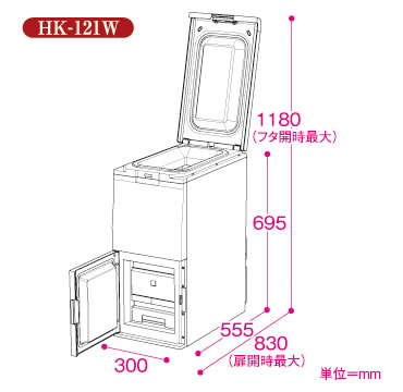 エムケー精工保冷米びつ【冷えっ庫】HK-121W