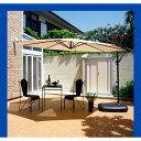パラソル ベースセット ハンギングパラソル ベース付き おしゃれ 北欧 日よけ シェード サンシェード 庭 遮光 日陰 バルコニー ガーデン カフェ ガーデンパラソル 3m 300cm ガーデニング エクステリア UV b20・・・