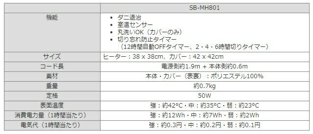 Sugiyama(椙山紡織)『ホットマルチヒーター(SB-MH801)』