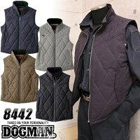 ドッグマンDOGMAN防寒ベスト8442防寒着作業服作業着中綿ベスト