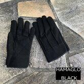 【2双までメール便可】横浜のばのばHAMAGLOBLACK革手袋・皮手袋H902人工皮革背縫い手袋M・L