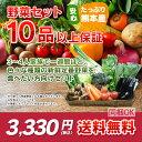 【 送料無料 】レビュー件数7,500件超!当店人気No.1☆ 九州 熊本産 定番旬野菜 10品以……