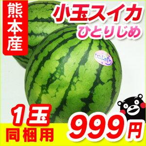 ひとりで食べきれるサイズが人気!冷蔵庫のスペースも取らない旬の味!■熊本産 小玉スイカ■...