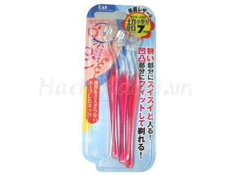 日本KAI贝印细致安全修眉刀专业刮眉刀化妆美容工具(L型)3本入