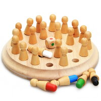 木製メモリーチェッカー子供のゲーム知育玩具脳トレおもちゃ誕生日プレゼントゲームチェスストレス対策
