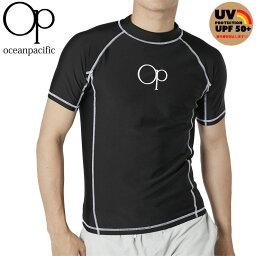 オーピー メンズ ラッシュガード UVカット 半袖 スイムウェア Tシャツ 定番ロゴ 紫外線対策 日焼け防止 OP 510471