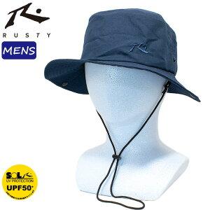 ラスティー ハット メンズ ビーチハット SURF HAT 帽子 マリンハット シンプル 無地 UVカット 熱中症対策 RUSTY 910905