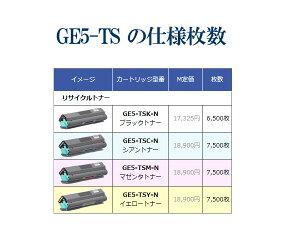 GE5-TS-Nトナー(4色セット)リサイクルSPEEDIAGE5000対応