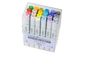 ■コピック スケッチ コミックイラスト24色セット型番:11779023アルコール染料インク・楕円形ボディデザイン用途・イラスト用途・教材用途・他