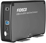 FIDECO 3.5インチ HDDケース USB3.0 SATA 外付ハードディスクケース 冷却ファン付き UASP対応 最大容量16TB 3.5/2.5インチHDD/SSD対応 簡単着脱 送料無料