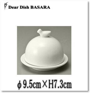 ふた付きバター/白/業務用洋食器の小皿平皿シリーズ