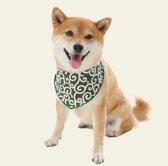犬服 唐草模様バンダナ Lサイズ(中型犬、大型犬用)【メール便なら送料無料】和柄 からくさ 犬の服 ドッグウェア