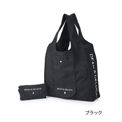 ショッピングバッグ (ブラック/ナチュラル) エコバッグ 折りたたみ 軽量 コンパクト レジ袋 マイバッグ トートバッグ 買い物バッグ シンプル ギフト 新生活・・・ 画像1