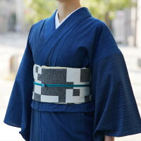 洗える着物木綿着物松阪正藍染め仕立て上がり縞ストライプ単衣紺藍洗える着物木綿着物レディース