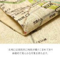 京袋帯西陣織染め帯東京路線図電車駅ベージュカラフルカラフルモダン地図絹日本製着物お太鼓