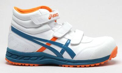 アシックス安全靴FIS53Sウィンジョブ53S合皮ハイカットタイプ作業靴マジック止め(JSAAA種樹脂先芯)【2360063】