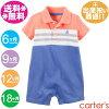 カーターズポロシャツ風ロンパースポロシャツ風ロンパースヨット・オレンジ×白×ブルー