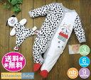 【メール便送料無料】Vitamins Baby  カバーオール&ぬいぐるみSLEEPYHEAD犬 ダルメシアン柄・白×ブラック