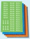 お名前付け漢字フロッキー名前のみ5色セット各色21ピース合計105ピース