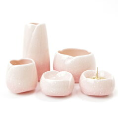 ペット仏壇や納骨堂にぴったりな可愛い陶器仏具セット。香炉灰もセットです。【ペット仏具】【...