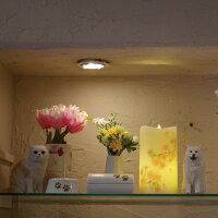 ペット仏具ロータスグレイスLEDコースターキャンドルセットお供え仏具蝋燭ロウソクろうそくキャンドルスタンド蓮ライト犬猫ペット供養自宅納骨堂ペット仏壇