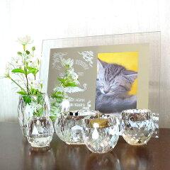 【送料無料】愛称と亡くなった日を彫刻できるミラーフォトフレームと、きらきらきれいなガラス...