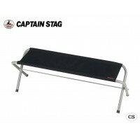【代引き・同梱不可】CAPTAIN STAG グラシア フォールディングベンチ(ブラック) M-3805イス キャンプ レジャーベンチ