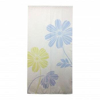 【代引き・同梱不可】のれん 花柄 暖簾 フラワー シャーベットフラワー 170cm丈 N000027