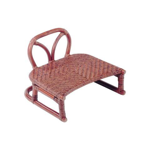 【代引き・同梱不可】今枝ラタン 正座椅子 ブラウン SZ-204D
