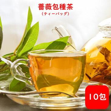 薔薇包種茶 ティーバッグ 台湾茶 10包 送料無料 送料込み ウーロン茶 中国茶 バラ ローズ ブレンド ハーブティー ティーバック 効果 効能 花粉症 入れ方 淹れ方 極上品 飲み方 カテキン おうちグルメ 冷茶 水出し