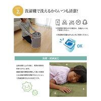 ラグマットカーペット3畳洗える抗菌防臭無地『ピオニー』ブラウン約200×250cm(ホットカーペット対応)
