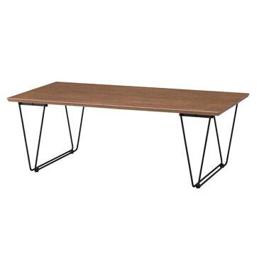 デザインコーヒーテーブル/ローテーブル 【幅110cm】 スチール脚 ブラウン 『アーロン』 END-221BR【日時指定不可】