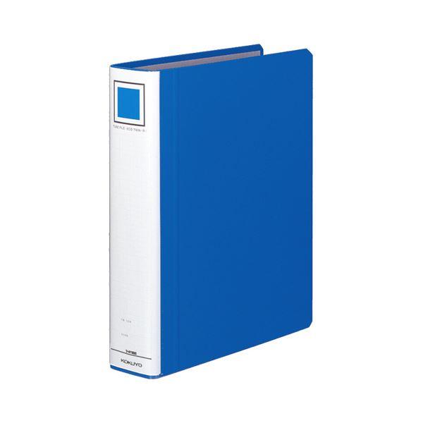 (まとめ) コクヨ チューブファイル(エコツインR) A4タテ 500枚収容 背幅65mm 青 フ-RT650B 1冊 【×10セット】【日時指定不可】