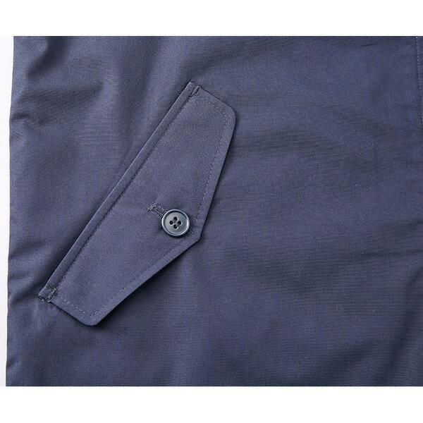 テカリを抑えた綿混・撥水加工、防風加工、裏地付スウィンブトップジャケット ネイビー L【日時指定不可】