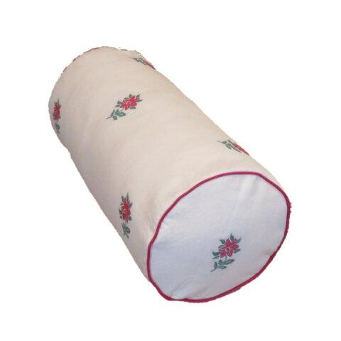 ボルスタークッション/腰枕 【18R×40cm レッド】 洗えるカバー 『オロペサ』【日時指定不可】
